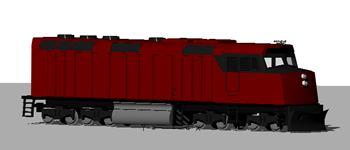 Locomotive Diesel 3D