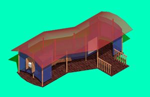 Bus stop SHELTER 3d