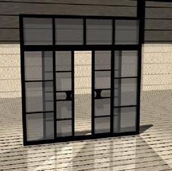 Puerta para interior 3d corrediza de dos hojas a base de for Puertas corredizas revit