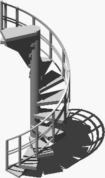 Spiral stair 3d in AutoCAD   CAD download (354 67 KB