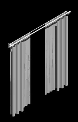 Curtain 3d In Autocad Download Cad Free 48 48 Kb