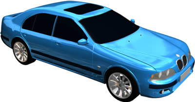 Car BMW M5 3D With applied materials