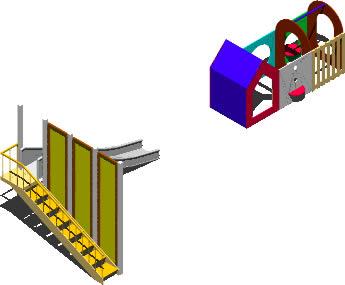 Tobogan y construccion 3D para niños