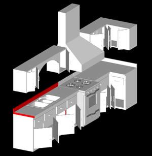Cocina integral 3d en autocad descargar cad kb for Software diseno cocinas 3d gratis