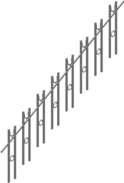 Stairway handrail 3d