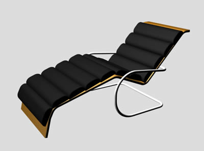Sofa in 3D for relax in  with Applied materials