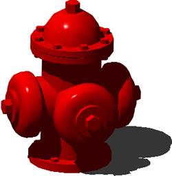 Hidrante contra incendios 3D