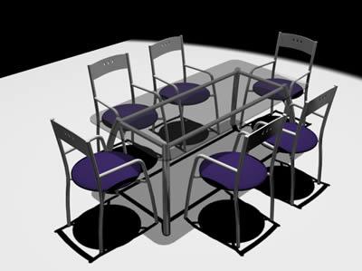 Juego mesa 3D con materiales aplicados
