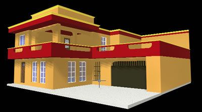 Facade's remodelation in 3D