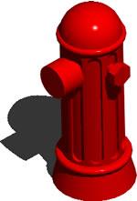 Grifo contra incendios 3D