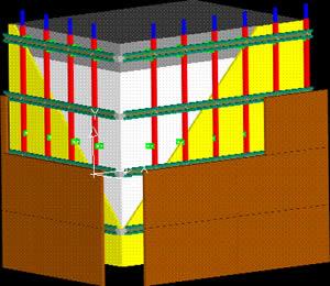 Ventilated facade 3D