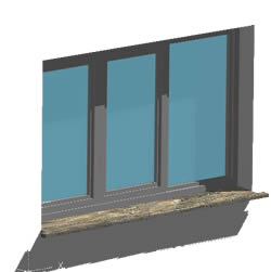 Window three panels 210x210 - 3d