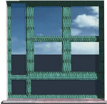 Window in 3d - Distributed glass - 150x150cm
