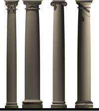 Greek columns 3d