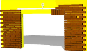 3D Brick Detail on Opening