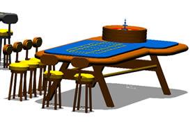 Mesa de Ruleta - poker