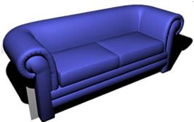 Double sofa 3D