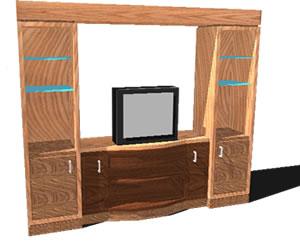 Estante para tv 3D