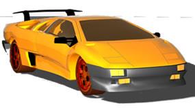 Sport car in 3D