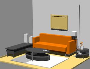 Superior Living Room 3d