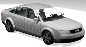 Audi A6 in 3D - Details