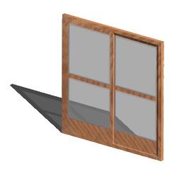 Door 2.10x2.10m  3d