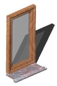 Window 90x110cm in 3d