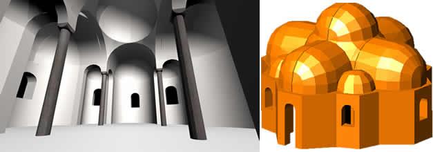 Iglesia románica en 3d