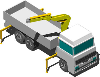 Truck With Crane 3d In Autocad Download Cad Free 199 27