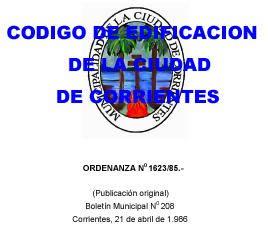 Label edification of Corrientes City - Argentina