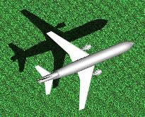 Commercial airplane 3D