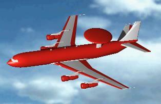 Airplane with radar