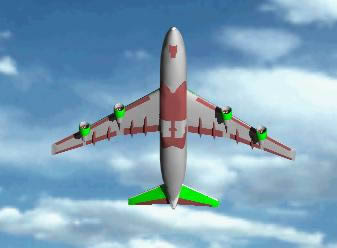 Airplane of passagers transport 3d