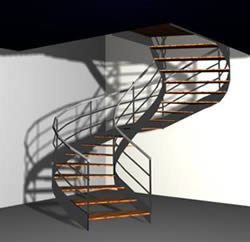 Spiral stair in 3d