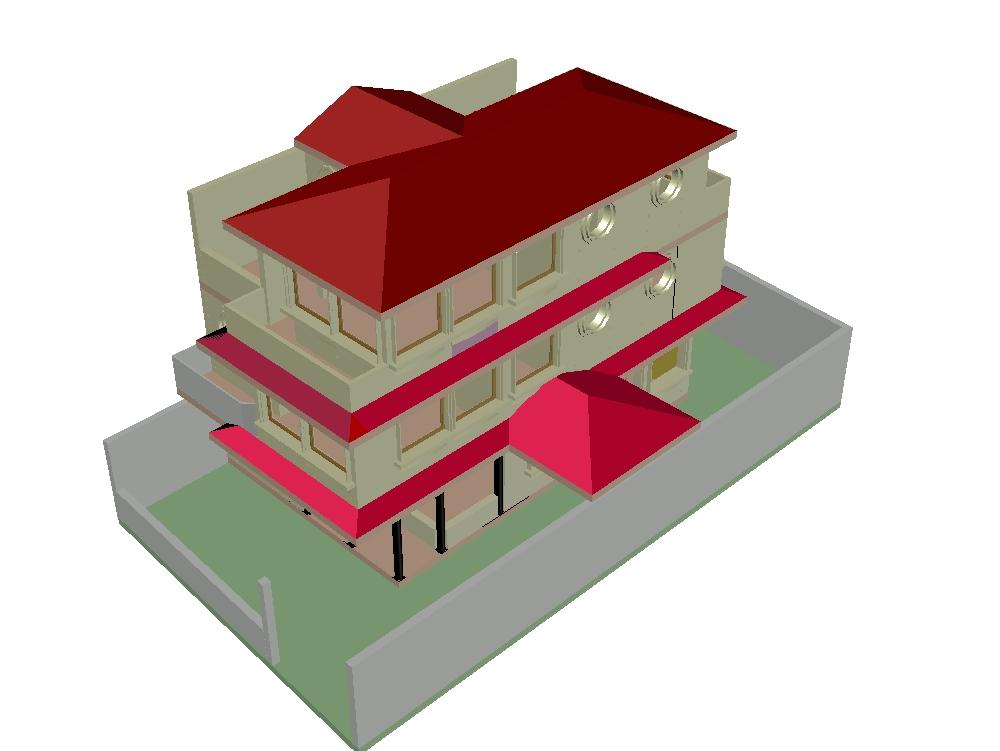 House three levels