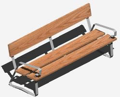 Bench of square 3d