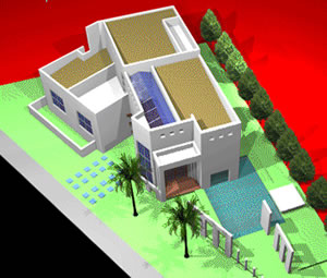 Country house in 3D