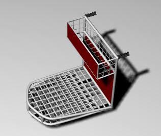 Supermarket car 3d