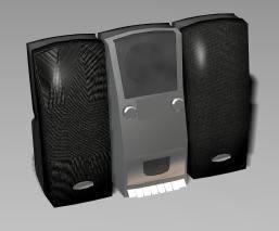 Audio equipment 3d