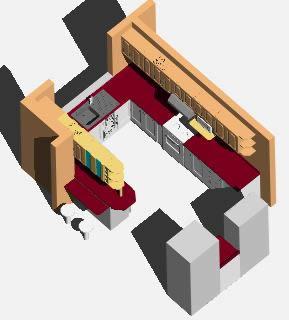 Diseño cocina 3d en AutoCAD   Descargar CAD (1.01 MB)   Bibliocad