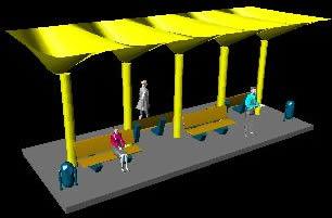 PARADERO DE AUTOBOS EN 3D
