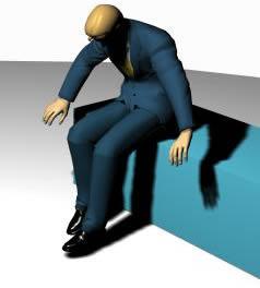 Hombre sentado