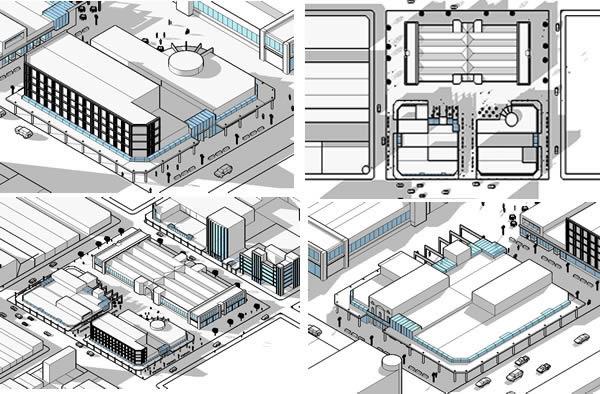 Remodeling of North Market - Cordona city - Model 3D
