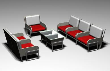 Modular armchairs for living room