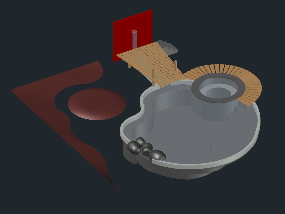Swimming Pool 3d In Autocad Cad Download 375 56 Kb