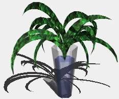 Planta y Florero en 3D