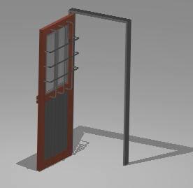 Metallic door 3D