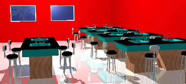 Chemistry Chemistry laboratory with furnitures without textures in 3d