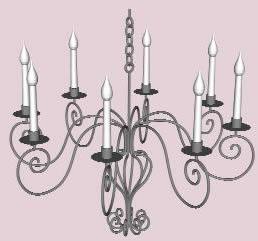 Lamp chandelier in 3d - Bibliocad