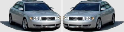 Audi A4 in 2 positions for render
